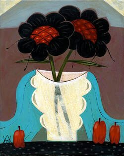 Two Black Flowers